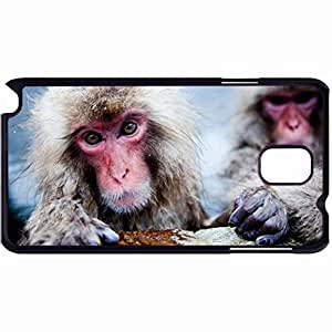 New Style Customized Back Cover Case For Samsung Galaxy Note 3 Hardshell Case, Back Cover Design Japanese Macaque Personalized Unique Case For Samsung Note 3