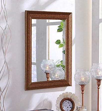 . Buy Zahab Fibre Frame Antique Design Bathroom Mirror  Decorative
