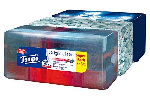 Tempo Zakdoeken Trio-Box, 3 x 80 doeken (240 doekjes)