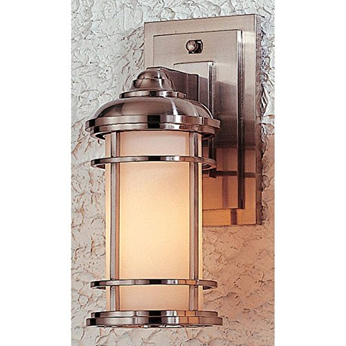 Murray Feiss OL2200BS, Lighthouse Outdoor Wall Sconce Lighting, 60 Total Watts, Steel