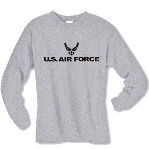 Sleeve Force Air T-shirt Long (Air Force Long Sleeve T-Shirt in gray - Large)