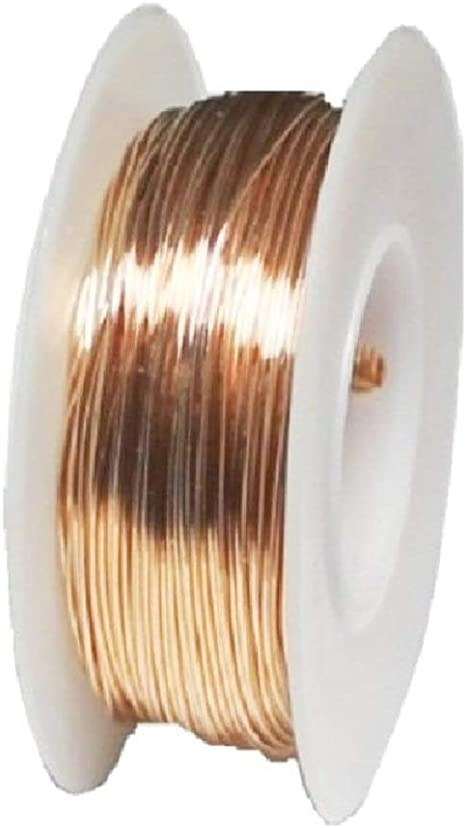 Dead Soft Solid Copper Round Wire 1//4 Lb Gauges 12 To 30 Spool