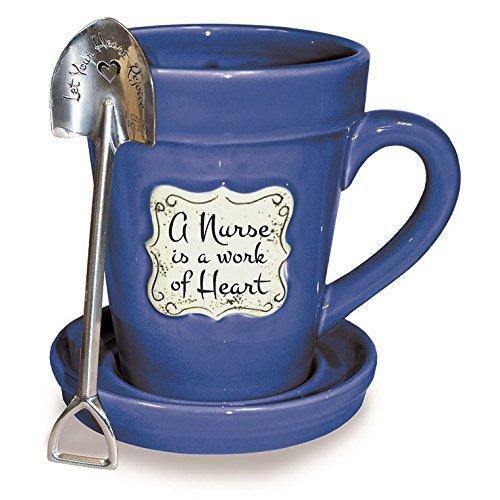 Divinity Boutique 24657 Flower Pot Med Blue Nurse Multicolor