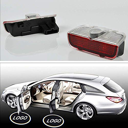 Car Welcome Laser Logo Projector Lamps Car Courtesy Ghost Shadow Light-LED Car Door Step Shadow Logo Easy Installation Light for Porsche Cayenne 958 911 Boxster CARRERA4 MACAN S3 S4