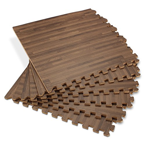 Forest Floor 5/8-inch Thick 100 Sq Ft (25 Tiles) Walnut Interlocking Foam Floor Mats