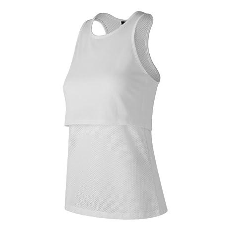 04bb372ae2b11 Amazon.com: New Balance Women's 247 Sport Layered Tank Top, White ...