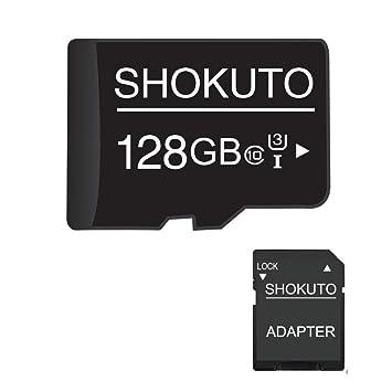 SHOKUTO Tarjeta SD, 128 GB, Tarjeta de Memoria Micro SDHC, Tarjeta TF + Adaptador SD Clase 10, U3