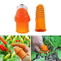 FantasyBear Silicone Thumb KnifeFinger Protector Harvesting Plant Knife Finger Knife Picking for Trim Garden Vegetable Gardening Kitchen Tools (Small One Set-Female)