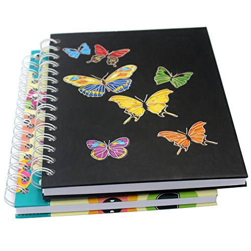 Spiral Notebook/Spiral Journal/Hardcover Spiral Notebook with Blank Pages-2 Notebooks Per Pack/Total 150 Sheets (300 Pages)-A5, 8.3