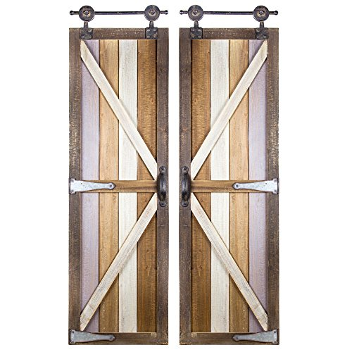 Barnyard Wall - Millennium Art American Art Décor Barnyard Doors Wood Metal Hanging Wall Décor Rustic Farmhouse Décor