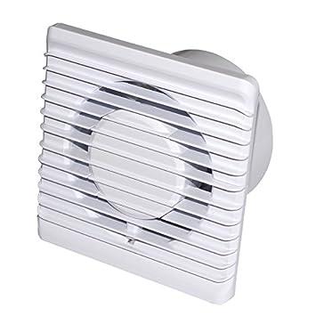 /Ø 100mm Leise Badl/üfter mit Wei/ß Front Wand-ventilatoren Abluftventilator deckenventilator
