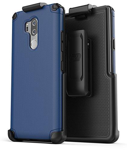 Type Belt Clip (LG G7 ThinQ Belt Clip Case - Encased (Nova Series) Slim Grip Case Holster (New 2018) Navy Blu)