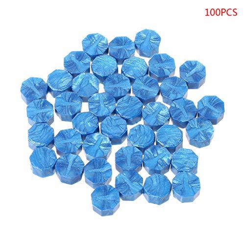 - EHOO 100pcs Octagon Sealing Wax Beads Sticks for Retro Seal Stamp Multicolor Wedding Envelope Invitation Card DIY Decor_Sky Blue