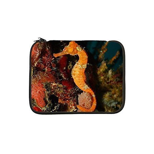13 Inch Laptop Sleeve Seahorse Holding Coral