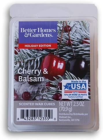 Better Homes and Gardens Scented Wax Cubes 2020 Editions - Cherry & Balsam - 2.5 Oz