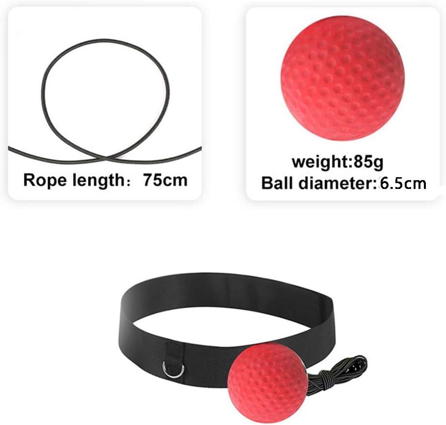 Reflex Boule De Boxe Portable De Boxe Dentra/înement /À Billes Combat Reflex Boule Pratique avec Bandeau Fitness Accessoires De Boxe Dentra/înement /À Billes