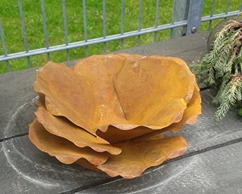 Terracotta Toepfe De Blute Ca 30 Cm Aus Metall In Edelrost Rost