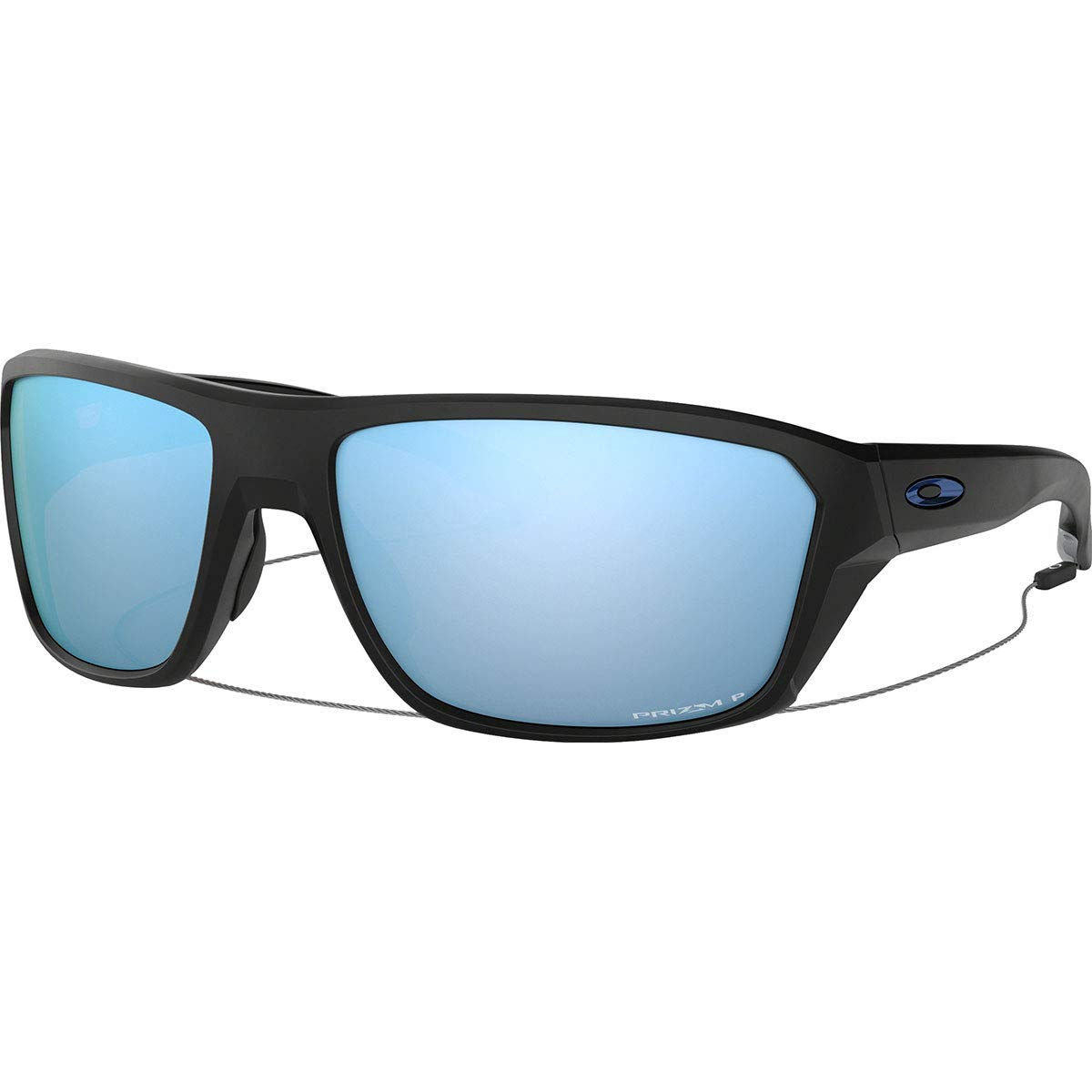 Oakley Men's OO9416 Split Shot Rectangular Sunglasses, Matte Black/Prizm Deep H2O Polarized, 64 mm by Oakley