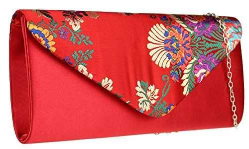 femme Girly Pochette Handbags red pour wgYABqFgx