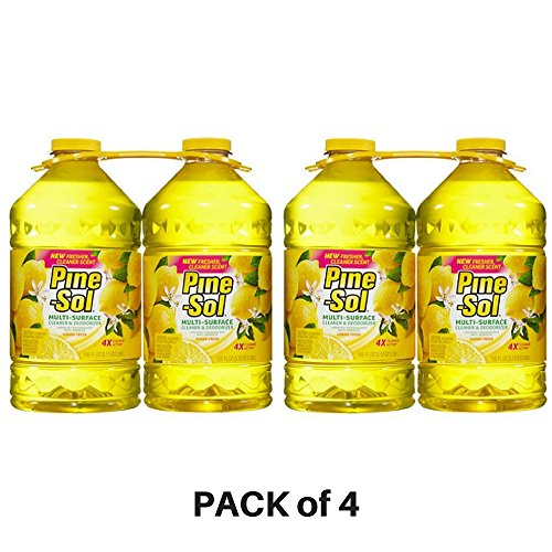 (Pine-Sol, Multi-Surface Disinfectant Lemon Scent - PACK of 4)