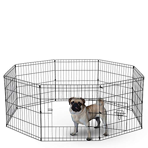 Dog Exercise Pen Pet Playpens for XX-Large Dogs - Puppy Playpen Outdoor Back or Front Yard Fence...
