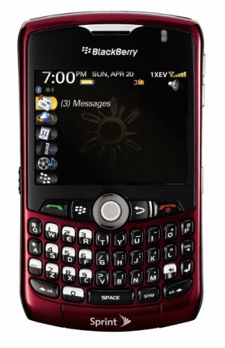 BlackBerry Curve 8330 Phone, Red (Sprint)