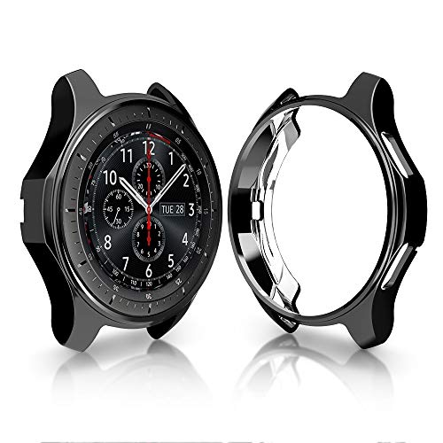Case for Samsung Gear S3 Frontier SM-R760, Haojavo Soft TPU Plated Protective Bumper Shell Protector for Samsung Gear S3 Frontier SM-R760 & Galaxy Watch 46mm SM-R800 Smartwatch Accessories (The Best Case For Samsung Galaxy S3)