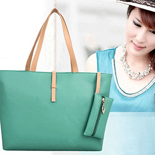 Women PU Leather Tote Shoulder Bags Hobo Handbags Satchel Messenger bag Purse GO, Additional small bag to put your small items or coins in - Uk Burch Tory