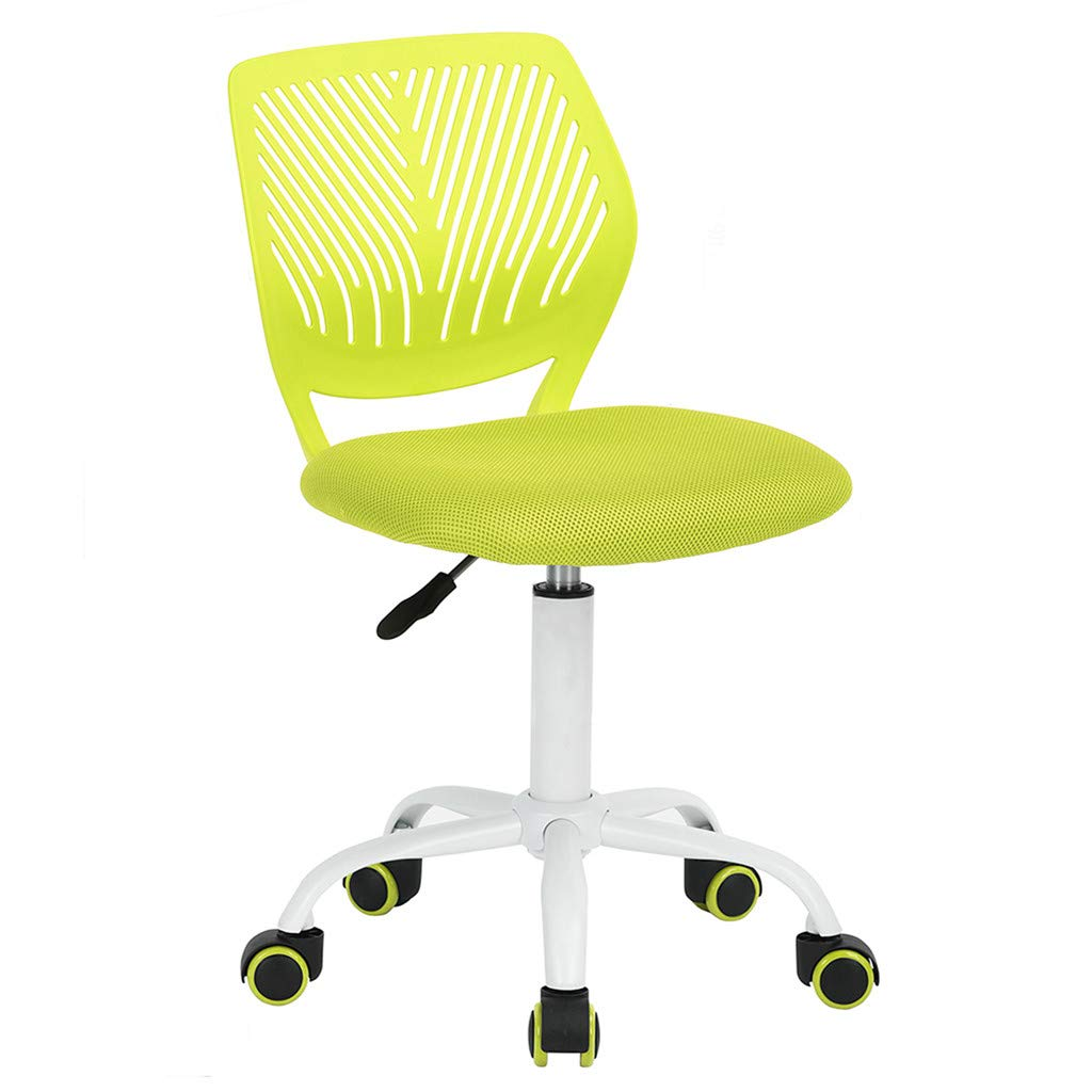 GreenForest Desk Chair for Kids Teens Small Office Computer Student Chair No Arms Low Back, Lime Green