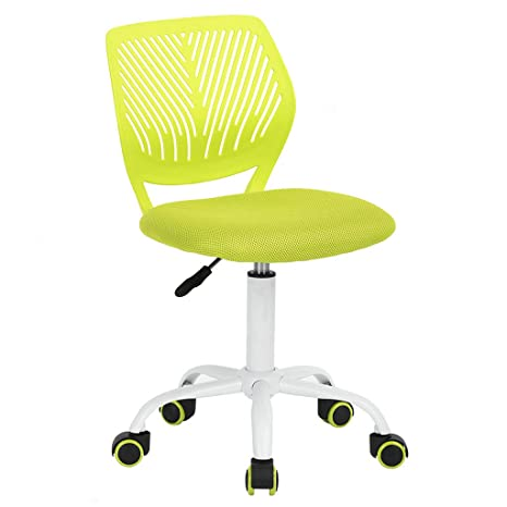 Prime Greenforest Desk Chair For Kids Teens Small Office Computer Student Chair No Arms Low Back Lime Green Machost Co Dining Chair Design Ideas Machostcouk