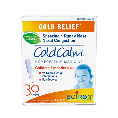 Boiron Coldcalm Baby, 30 Doses. Baby Cold Relief Drops for Sneezing, Runny Nose, and Nasal Congestion, Non-drowsy, Sterile Single-use Liquid Oral Doses with Natural Active Ingredient ()