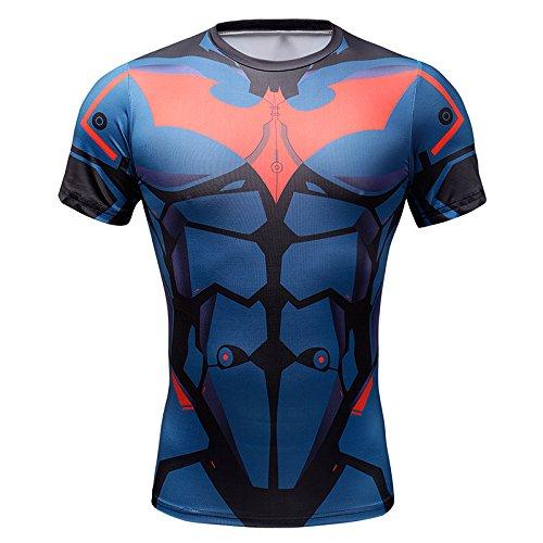 Superhero Batman Marvel Costume Slim Fit Sports T-Shirt Athletic Cycling  Jersey (S) - Buy Online in KSA. Apparel products in Saudi Arabia. d1a0e7eb0