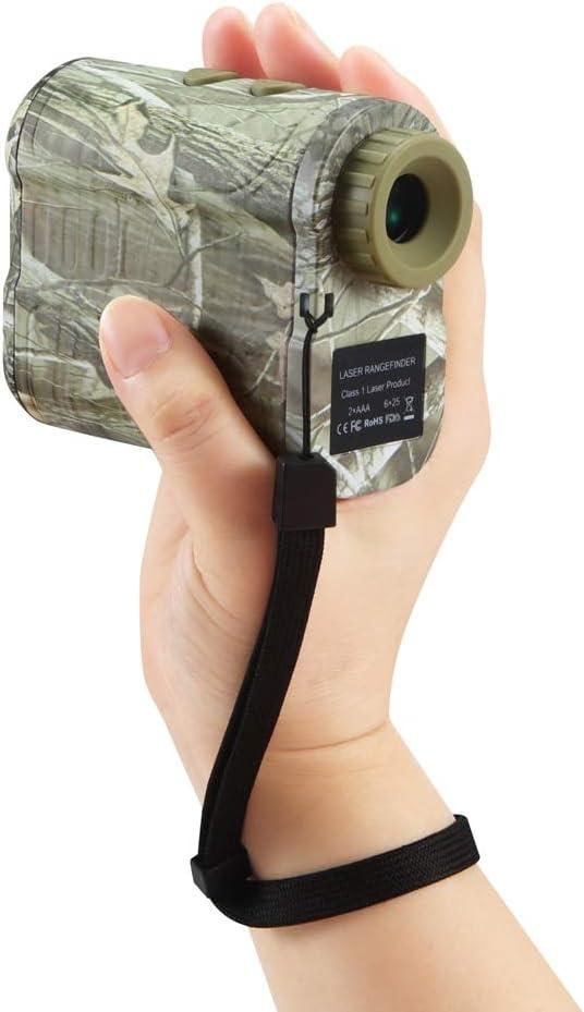 JU&MU 600 M Telémetro láser de golf Telémetro de 6 x distancia medidor de velocidad con bolsa de transporte correa de mano para telémetros de golf, caza, deportes y entretenimiento para óptica de