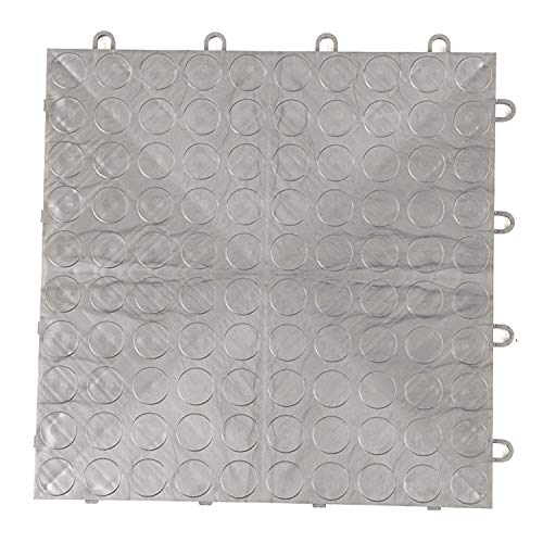 IncStores Coin Grid-Loc Garage Flooring Snap Together Mat Drainage Tiles (24 Pack, Gunmetal) by IncStores (Image #1)