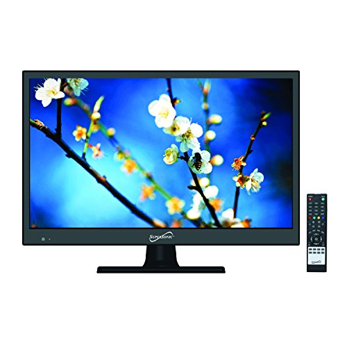 SuperSonic 1080p LED Widescreen HDTV with HDMI Input and AC/DC Compatible for RVs,  15.6-Inch