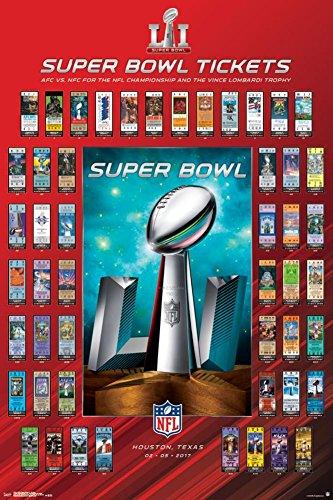 Super Tickets - Trends International Super Bowl LI Tickets Collector's Edition Wall Poster 24