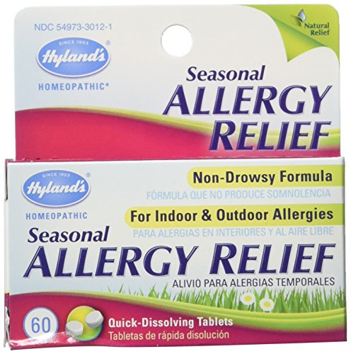 Hyland Allergy Seasonal Relief.60 Count,Pack of 1