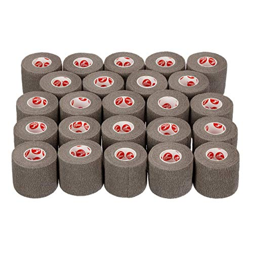 - Cramer Eco-Flex Self-Stick Stretch Tape, Cohesive Tape, Flexible Elastic Sports Tape, Athletic Training Supplies, Easy Tear Self-Adherent Bandage Wrap, Bulk Cases, 6 Yard Rolls, Grey Compression Tape