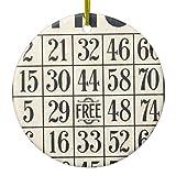 Zazzle Vintage Bingo Card Ceramic Ornament Circle
