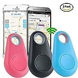 Smart Finder, GPS Locator Anti Lost Smart Blueteeth Tracker, Jsbaby GPS Tracker Alarm Key Wallet Car Kids Pets Bag Phone Locator Selfie Shutter Wireless Seeker Anti Lost Sensor, 3 Pack.