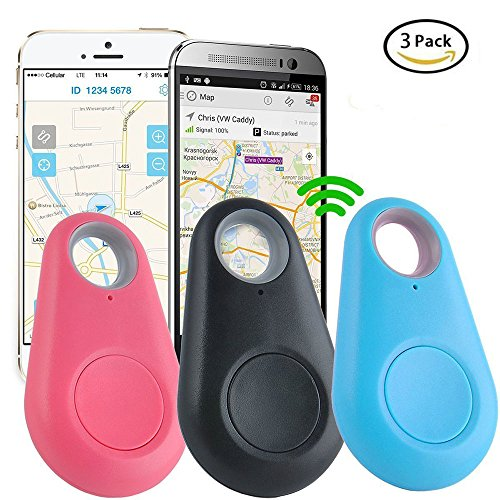 Smart Finder, GPS Locator Anti Lost Smart Blueteeth Tracker, Jsbaby GPS Tracker Alarm Key Wallet Car Kids Pets Bag Phone Locator Selfie Shutter Wireless Seeker Anti Lost Sensor, 3 Pack. by Jsbaby