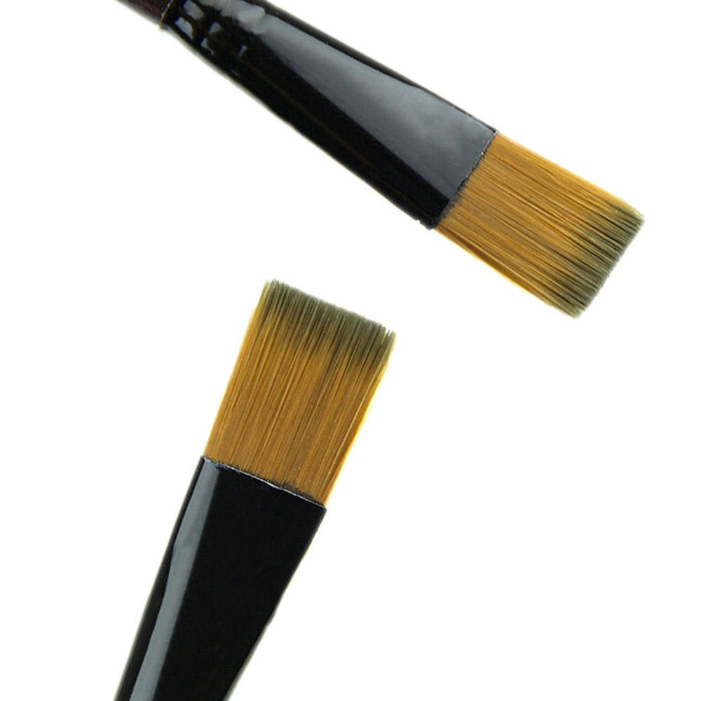 Amazon.com: Gbell Pack of 6 Art Brown Nylon Paint Brushes ...