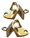Gold Wall Mount Bottle Opener (2 Pack) – Includes Mounting Screws – Very Solid – Gold Nickel Plated – Anti-Rust Protection – Retail Packaging – Great Gift Choice