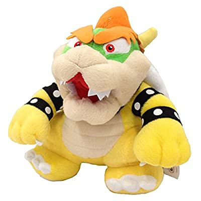 One Set of 9 Super Mario Bros Plush Toy King Bowser Baby Bowser Jr Kids Koopalings Koopa Larry Iggy Lemmy Roy Ludwig Wendy Morton by Generic: Toys & Games