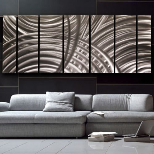 Large Silver Modern Metal Art - Abstract Wall Sculpture - Contemporary Home Decor - Office Accent - Unplugged By Jon Allen