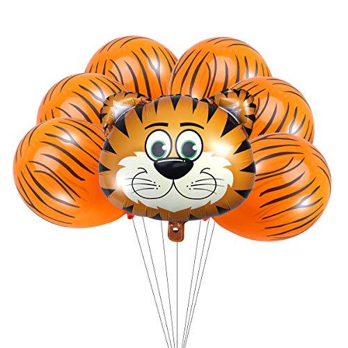Hot Cartoon Animal Lion Tiger Pig Zebra Head Helium Balloon Party Decoration Medium Child Birthday Balloons Wild Zoo Globos Durable Service Pet Products Accessories & Parts