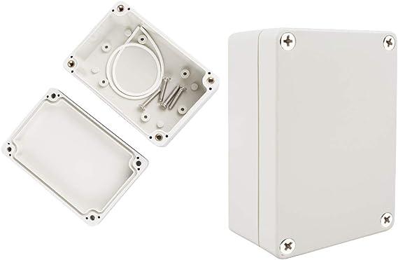 chudian 2pcs Caja de Conexiones, Cajas Estancas Caja Electrica Exterior (100 * 68 * 50mm) de plástico PVC resistente al agua, Caja Estanca para Exterior: Amazon.es: Bricolaje y herramientas