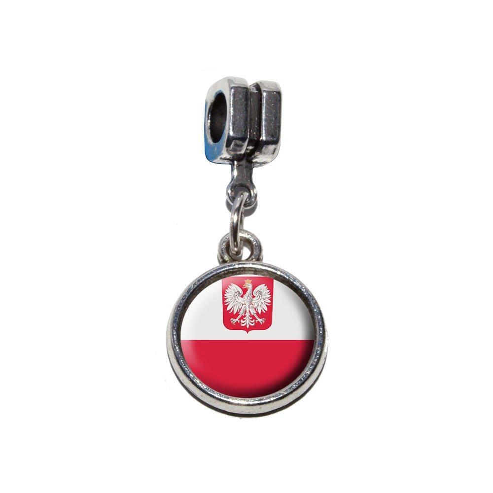 poland polish flag italian european euro style bracelet charm bead