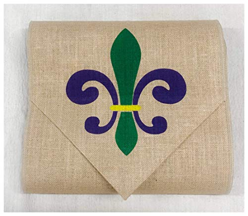 Mardi Gras table runner with Fleur de