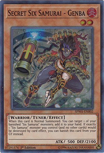 Secret Six Samurai - Genba - SPWA-EN002 - Super Rare - 1st Edition - Spirit Warriors (1st Edition)